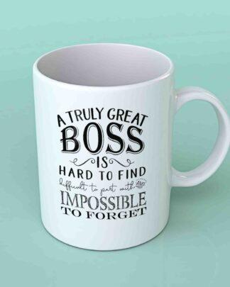 A truly great boss coffee mug