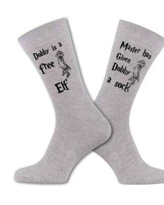 Master has given Dobby a sock light grey sock