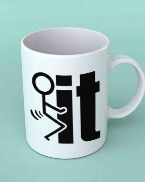 Stickman fuckit coffee mug