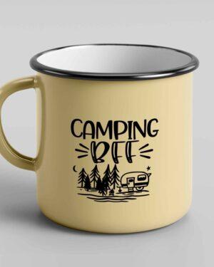 Camping BFF enamel tin mug