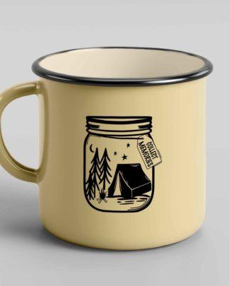 Collect memories jar of memories enamel mug