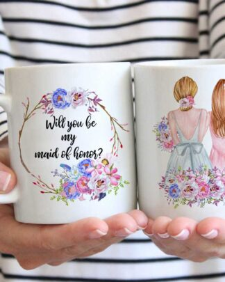 Best friends will you be my maid of honour coffee mug