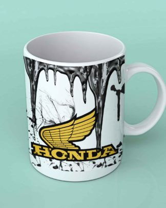 Honda motorcycle oil coffee mug