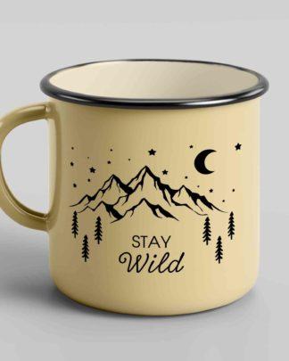 Enamel coffee mugs