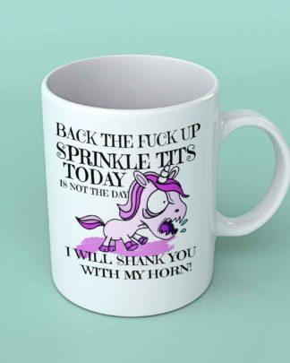 Back the fuck up sprinkle tits coffee mug 2