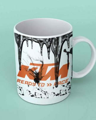 ktm motorcycle oil coffee mug