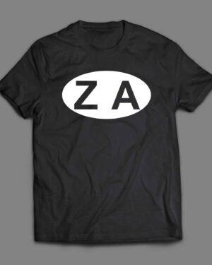ZA South Africa logo cotton T-shirt