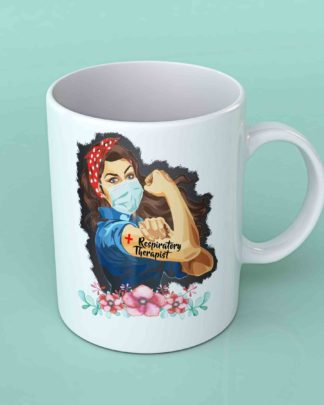 Respiratory therapist strong woman coffee mug