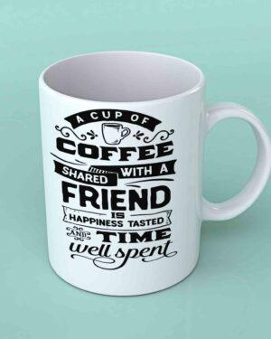 A cup of coffee shared Coffee mug