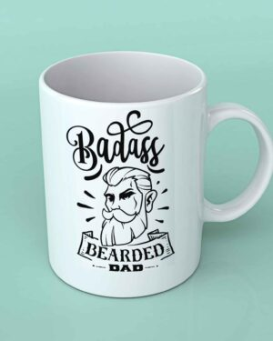 Badass bearded Dad coffee mug