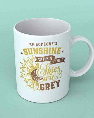 Be someone's sunshine sunflower coffee mug