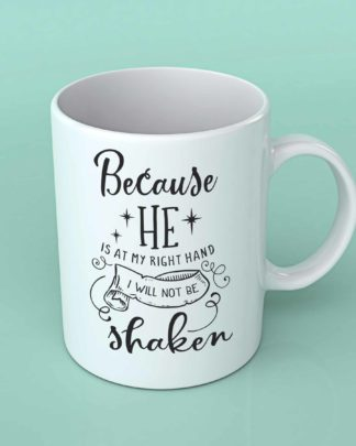 Because he is at my right hand coffee mug
