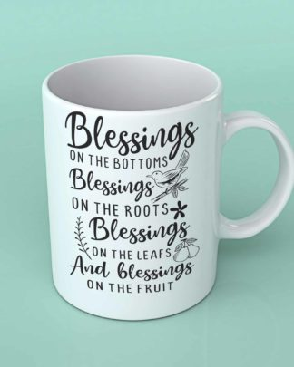 Blessings on the bottom coffee mug