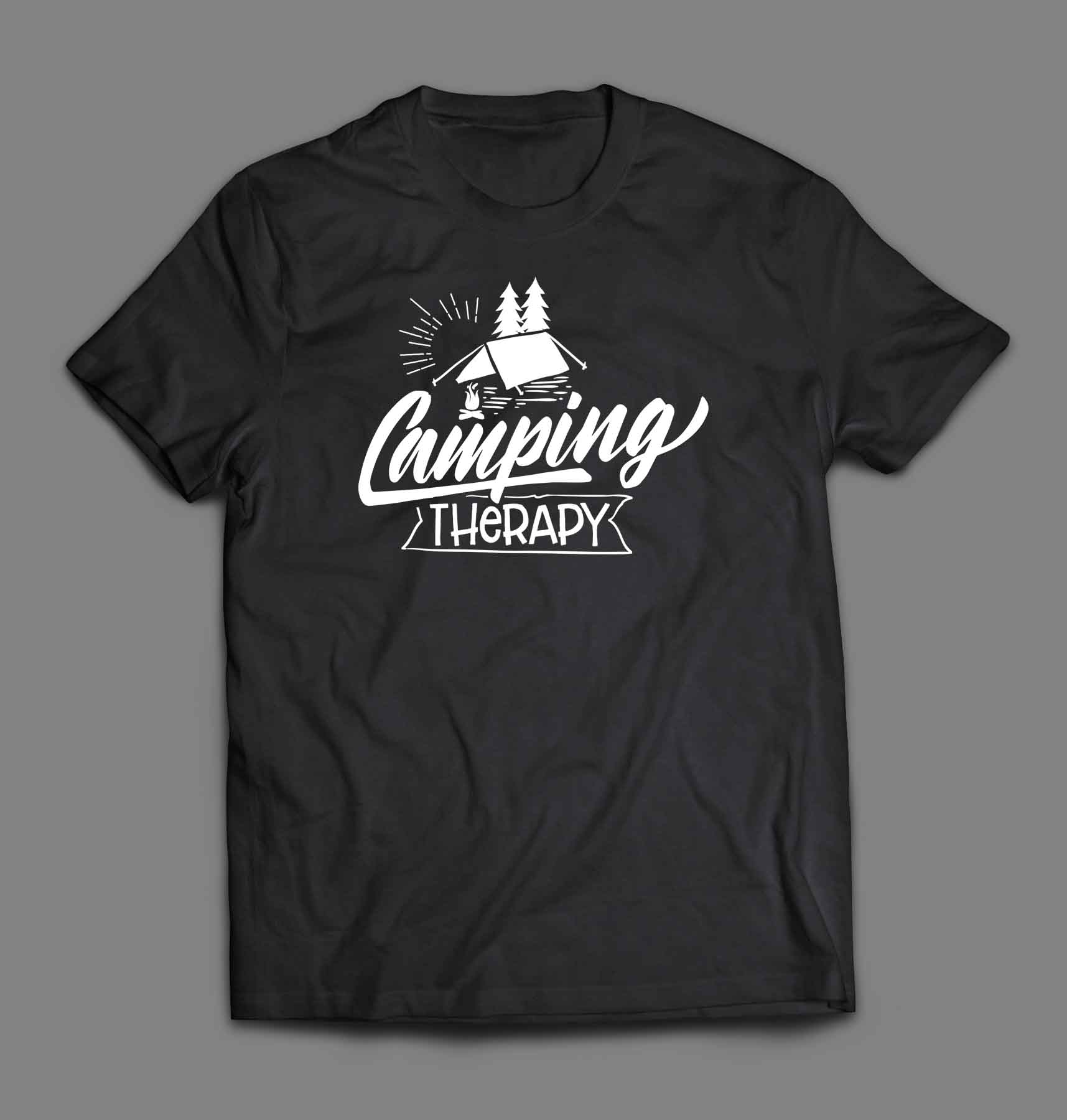 Camping therapy T-shirt