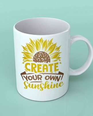Create your own sunshine sunflower coffee mug
