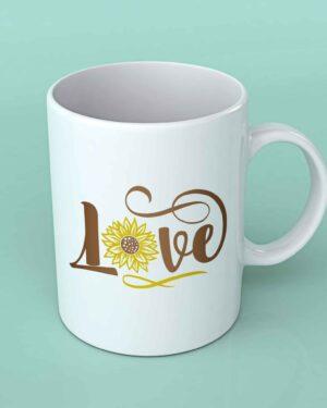 Love sunflower coffee mug