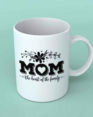 Mom the heart of the Family Coffee mug