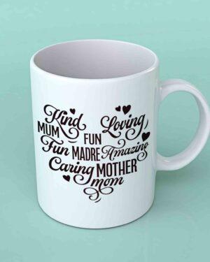 Mother heart shape coffee mug 1
