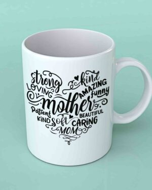 Mother heart shape coffee mug