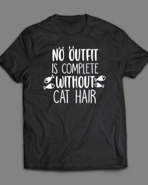No outfit is complete without cat hair T-shirt