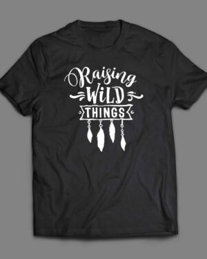 Raising wild things Boho arrow and feathers T-shirt