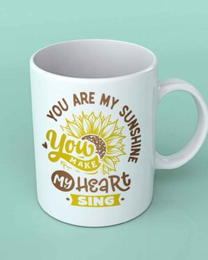 You are my sunshine sunflower coffee mug