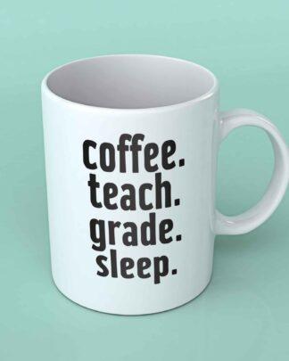 coffee teach grade sleep coffee mug