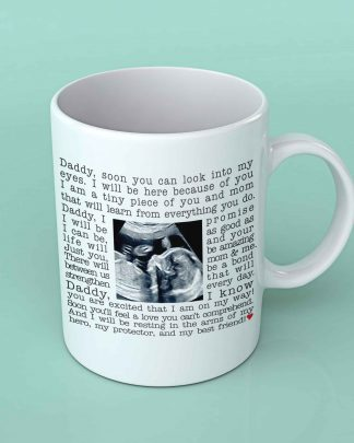 Daddy and ultra sound coffee mug