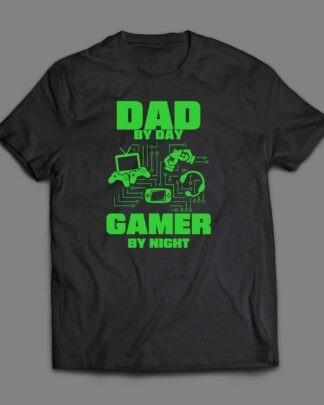 Dad by Day gamer by night T-shirt