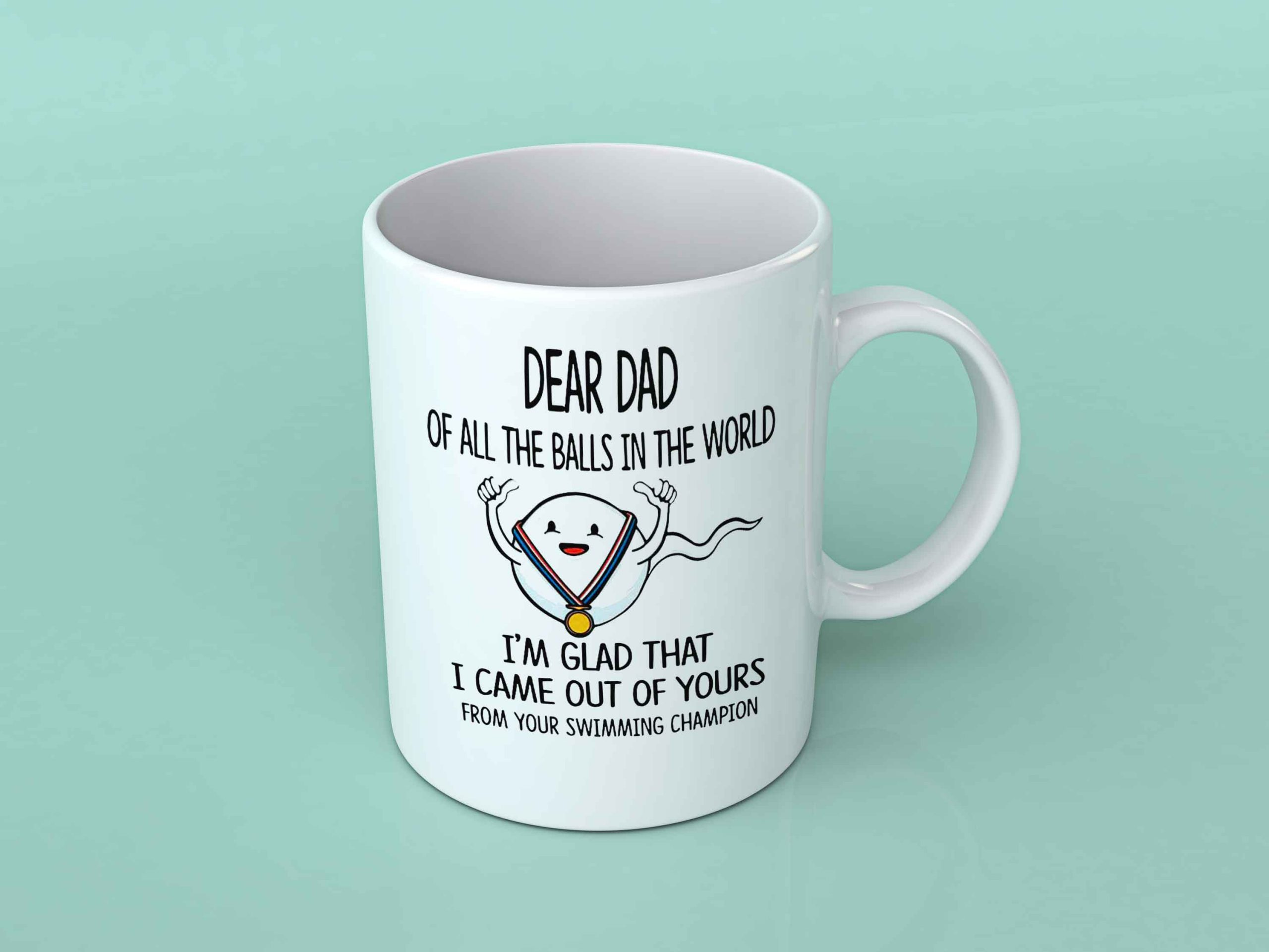 Dear dad of all the balls in the world Coffee mug