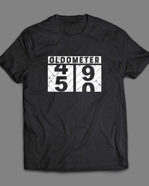 Oldometer 50th Birthday Cotton T-shirt