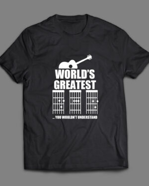 World's greatest Dad guitar chords T-shirt