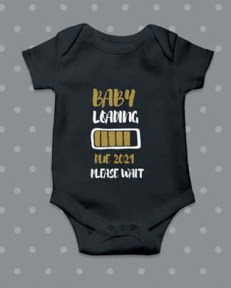 Baby loading baby grow black
