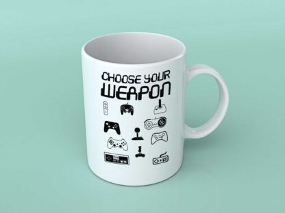 Choose your weapon coffee mug
