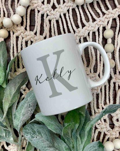 Initial and name mug K