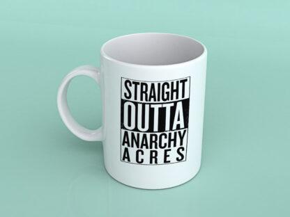 Straight outta Anarchy Acres fortnite coffee mug