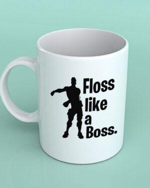 Floss like a boss Fortnite coffee mug