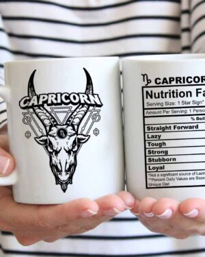 Capricorn star sign nutrition facts coffee mug