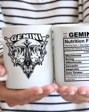 Gemini star sign nutrition facts coffee mug