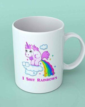 I shit rainbows Unicorn coffee mug