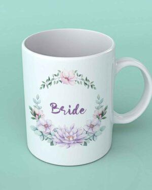 Bride wedding coffee mug Maroon