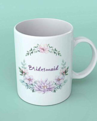 Bridesmaid wedding mug maroon