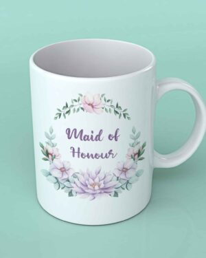Maid of honour wedding coffee mug maroon