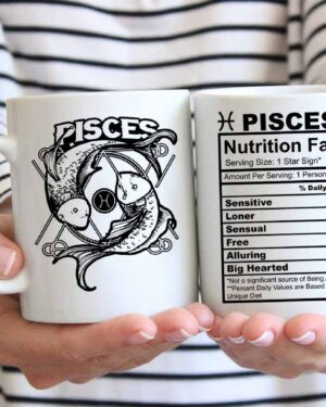 Pisces star sign nutrition facts coffee mug