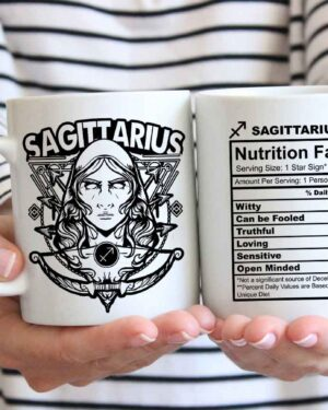 Sagittarius star sign nutrition facts coffee mug