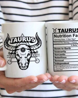 Taurus starsign nutrition facts coffee mug