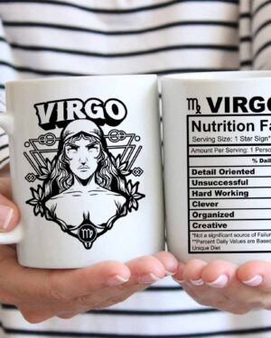 Virgo star sign nutrition facts coffee mug