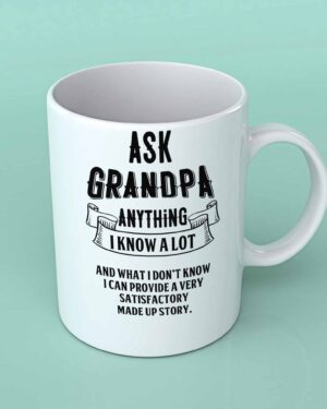 Ask Grandpa anything coffee mug
