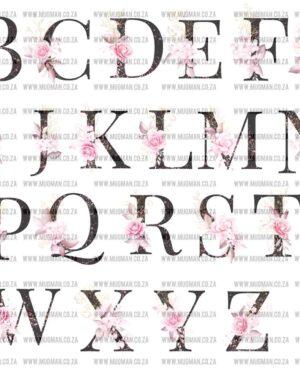 Floral Initial mug alphabet