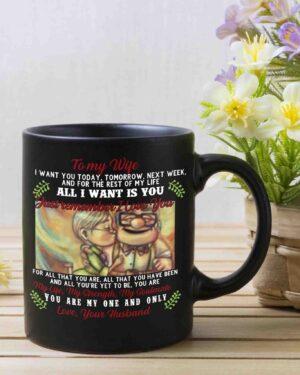 To my wife Up coffee mug